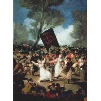 - Quadro -El entierro de la sardina, c-1812-19- - Goya y Lucientes, Francisco de