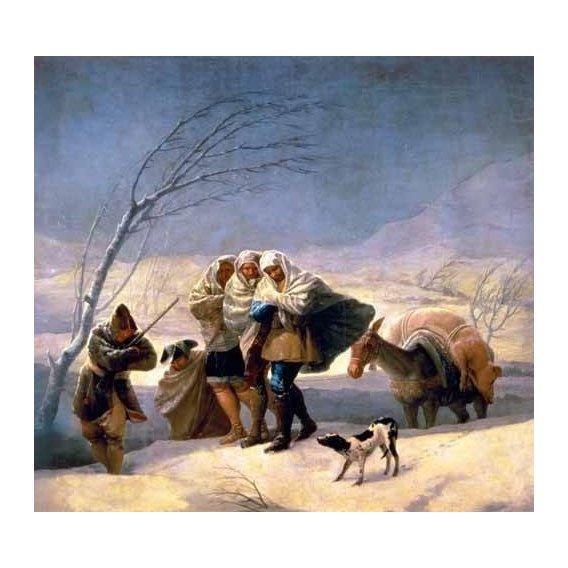 pinturas do retrato - Quadro -El invierno, 1786-87-