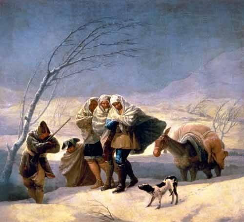 pinturas-de-retratos - Quadro -El invierno, 1786-87- - Goya y Lucientes, Francisco de