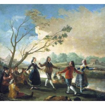 - Quadro -Baile a orillas del Manzanares- - Goya y Lucientes, Francisco de