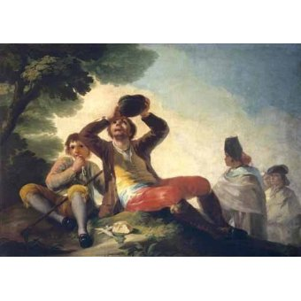 - Quadro -El bebedor, 1777- - Goya y Lucientes, Francisco de