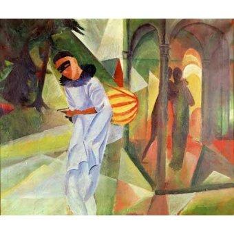 - Quadro -Pierrot, 1913 - - Macke, August