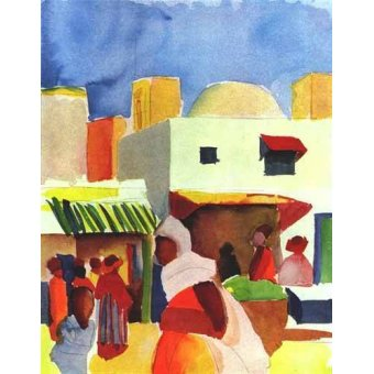 - Quadro -Por el bazar- - Macke, August