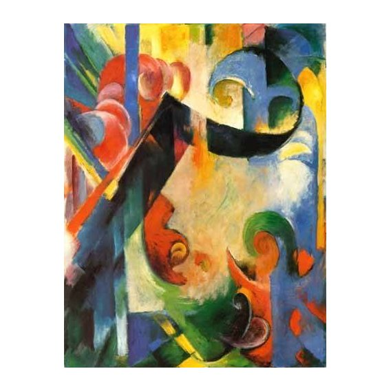 pinturas abstratas - Quadro -Zerbrochene Formen-