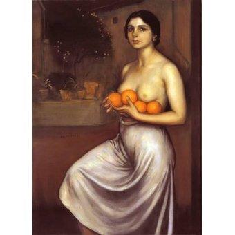 quadros nu artistico - Quadro -Naranjas y Limones- - Romero de Torres, Julio