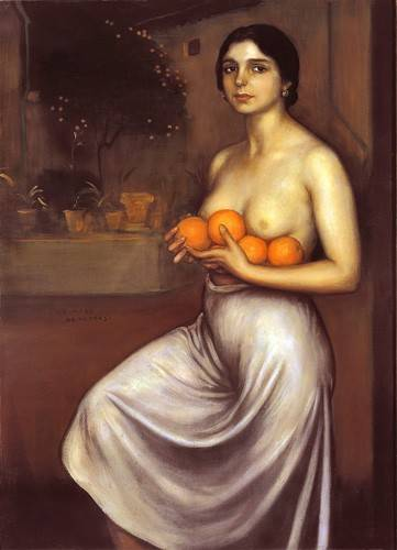 pinturas-de-retratos - Quadro -Naranjas y Limones- - Romero de Torres, Julio
