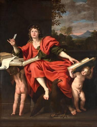 quadros-religiosos - Quadro -San Juan Evangelista- - Zampieri, Domenichino