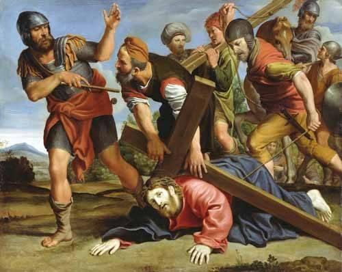 quadros-religiosos - Quadro -El Camino al Calvario- - Zampieri, Domenichino