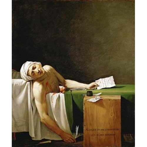Quadro -Jean Paul Marat, dead in his bathtub (Muerte de Marat)-