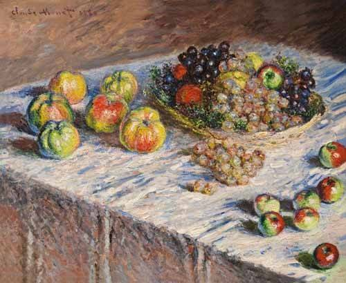 naturezas-mortas - Quadro -Bodegon con uvas, 1888- - Monet, Claude