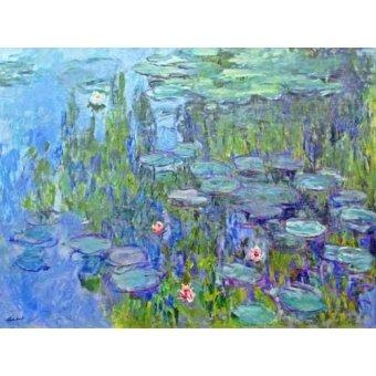 quadros de flores - Quadro -Ninfee, 1914- - Monet, Claude