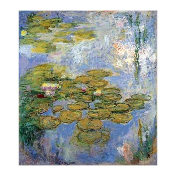 imagens de flores - Quadro -Nenufares, 1916-19-