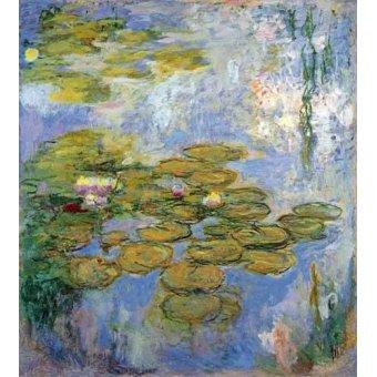 quadros de flores - Quadro -Nenufares, 1916-19- - Monet, Claude