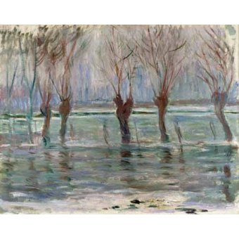 - Quadro -Flood waters at Giverny, 1896- - Monet, Claude