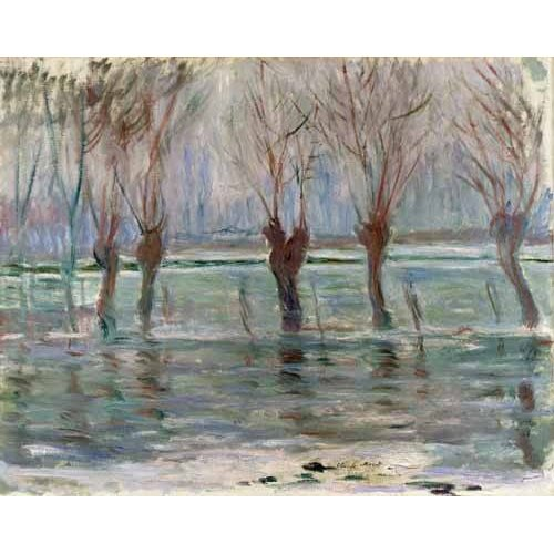Quadro -Flood waters at Giverny, 1896-