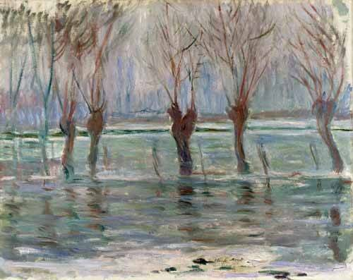 quadros-de-paisagens - Quadro -Flood waters at Giverny, 1896- - Monet, Claude