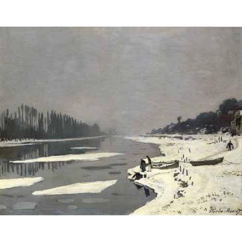 pinturas de paisagens - Quadro -Ghiacci sulla Senna a Bougival, 1867-68-