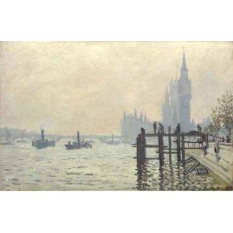 - Quadro -El Tamesis y Westminster, 1871- - Monet, Claude