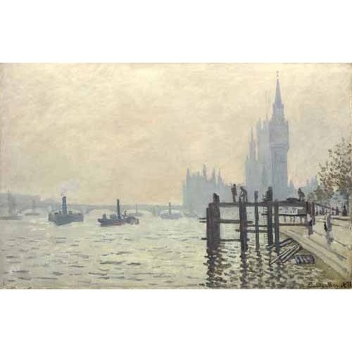 pinturas de paisagens - Quadro -El Tamesis y Westminster, 1871-