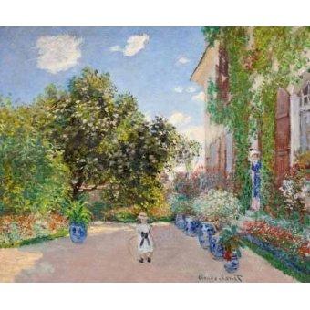- Quadro -La casa de Monet en Argenteuil, 1873- - Monet, Claude
