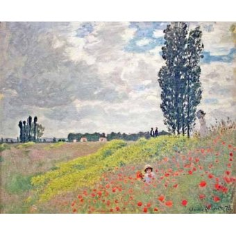 - Quadro -Paseo por el prado en Argenteuil, 1873- - Monet, Claude