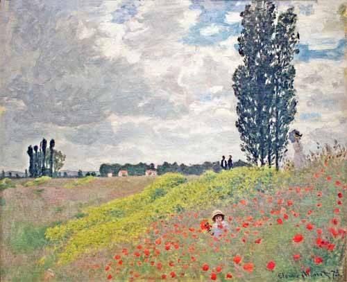 quadros-de-paisagens - Quadro -Paseo por el prado en Argenteuil, 1873- - Monet, Claude