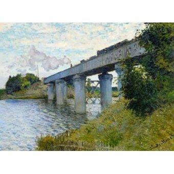 - Quadro -El Puente Ferroviario En Argenteuil, 1874- - Monet, Claude