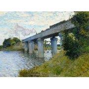 Quadro -El Puente Ferroviario En Argenteuil, 1874-