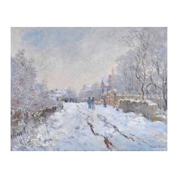 pinturas de paisagens - Quadro -Argenteuil, nevado, 1875-