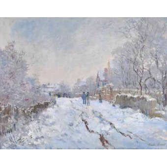 - Quadro -Argenteuil, nevado, 1875- - Monet, Claude