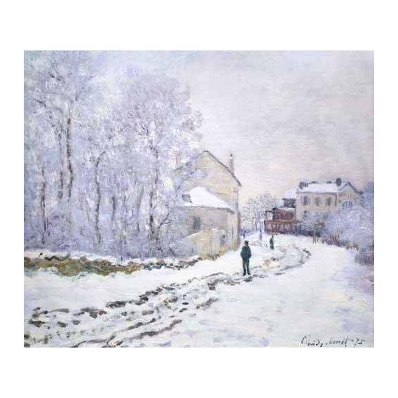 pinturas de paisagens - Quadro -Nevada en Argenteuil, 1875-