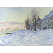 Quadro -Lavacourt bajo la nieve, 1879-