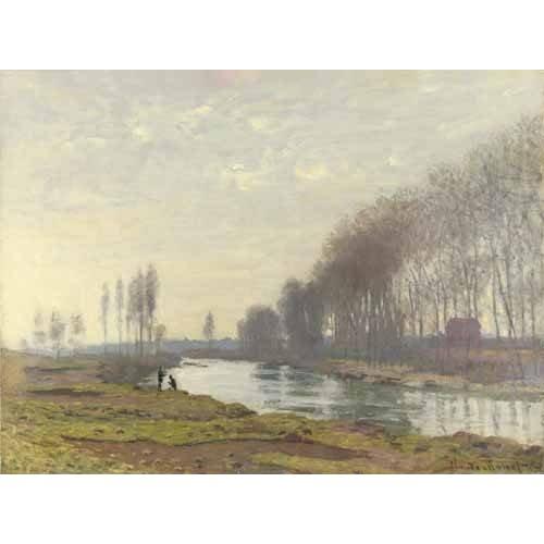pinturas de paisagens - Quadro -Le petit bras de la Seine a Argenteuil, 1872-