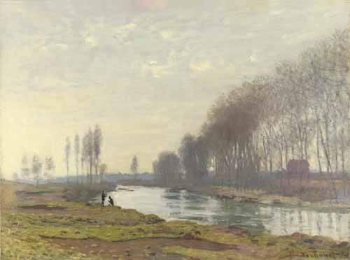 quadros-de-paisagens - Quadro -Le petit bras de la Seine a Argenteuil, 1872- - Monet, Claude