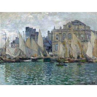 quadros de paisagens marinhas - Quadro -Museo Naval En Le Havre- - Monet, Claude