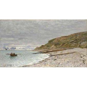 quadros de paisagens marinhas - Quadro -Sainte-Adresse, La Pointe de la Hève, 1864- - Monet, Claude