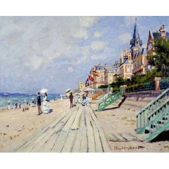 seascapes - Picture -La spiaggia a Trouville, 1870- - Monet, Claude
