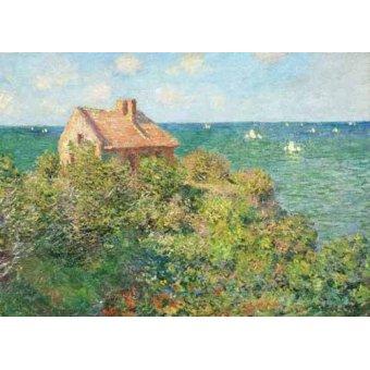 quadros de paisagens marinhas - Quadro -Il capanno del pescatore, 1882- - Monet, Claude