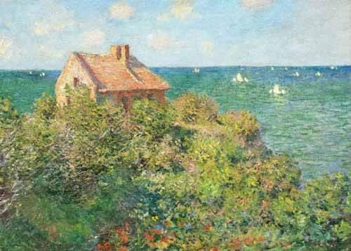 quadros-de-paisagens-marinhas - Quadro -Il capanno del pescatore, 1882- - Monet, Claude