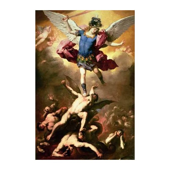 imagens religiosas - Quadro -The Archangel Michael hurls the rebellious angels into the abys