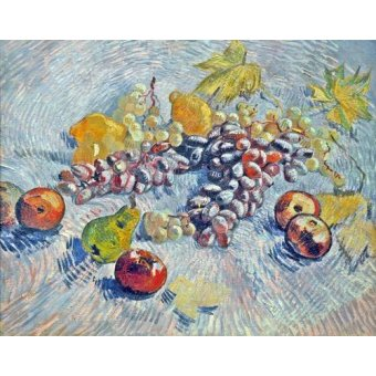 - Quadro -Grapes, Lemons, Pears, and Apples, 1887- - Van Gogh, Vincent