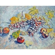 Picture -Grapes, Lemons, Pears, and Apples, 1887-