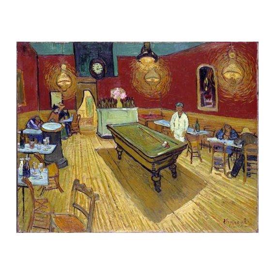 pinturas do retrato - Quadro -The Night Cafe, 1888-