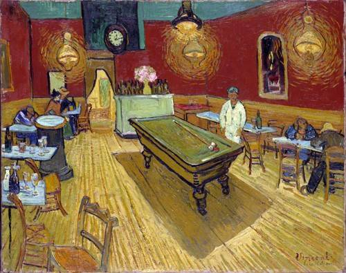 pinturas-de-retratos - Quadro -The Night Cafe, 1888- - Van Gogh, Vincent