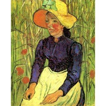 - Quadro -La campesina- - Van Gogh, Vincent