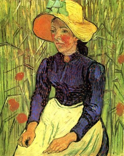 pinturas-de-retratos - Quadro -La campesina- - Van Gogh, Vincent