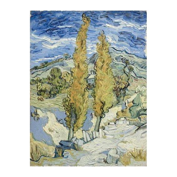 pinturas de paisagens - Quadro -The Poplars at Saint-Remy, 1889-
