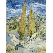 Quadro -The Poplars at Saint-Remy, 1889-