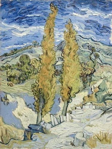 quadros-de-paisagens - Quadro -The Poplars at Saint-Remy, 1889- - Van Gogh, Vincent