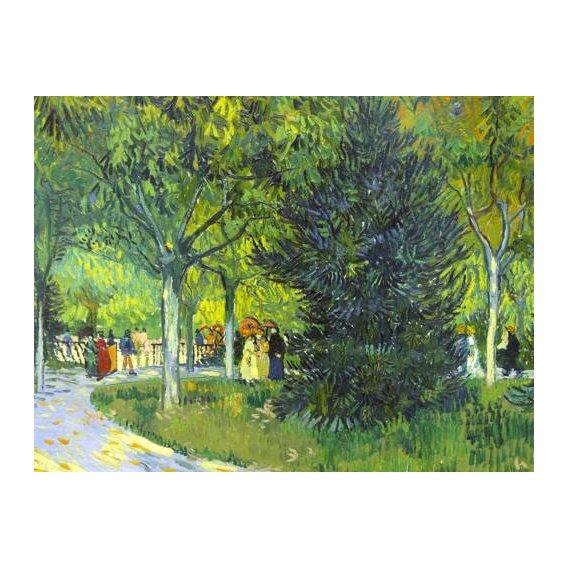 pinturas de paisagens - Quadro -Path in the park, 1888-
